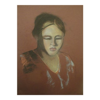 """Elizabeth"" Pastel Portrait For Sale"