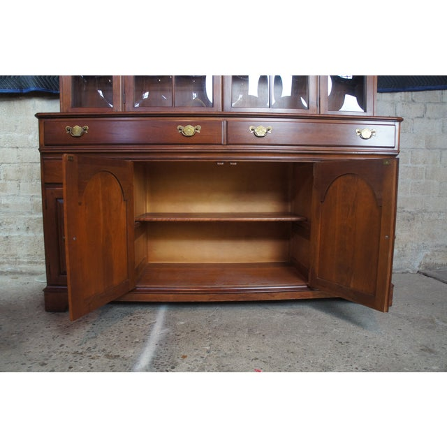 Traditional Pennsylvania House Cherry China Display Cabinet For Sale - Image 4 of 13