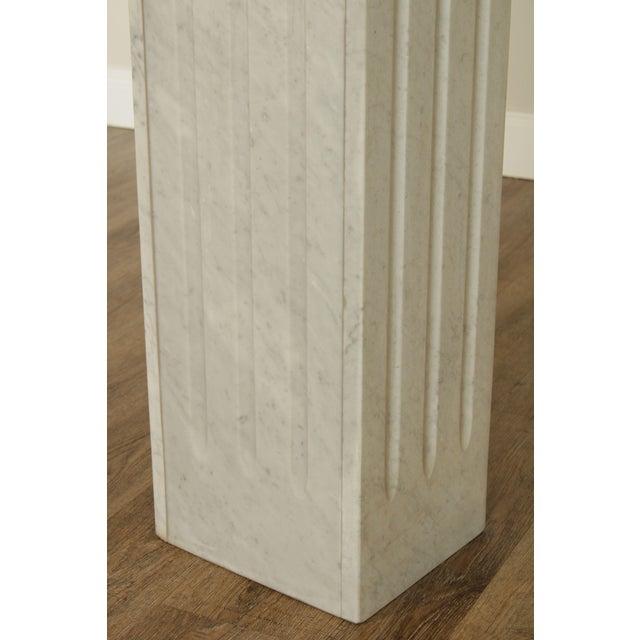 "Italian Carrara Marble 56"" Column Pedestal For Sale - Image 9 of 13"