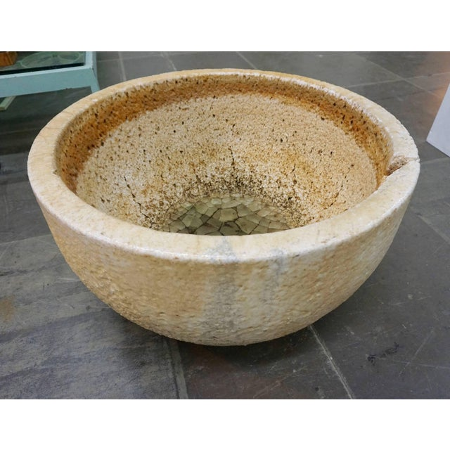 Cinnamon Ceramic Glass Blowers Crucible Extra Large For Sale - Image 8 of 8