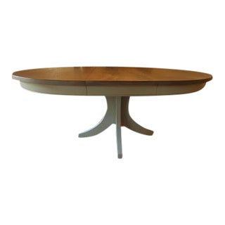 Transitional Pedestal Dining Table For Sale