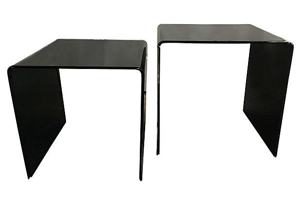 1960s Italian Lucite Nesting Tables   A Pair   Image 4 Of 10