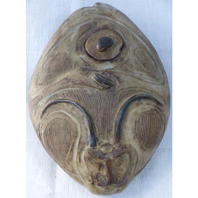 Mid Century Studio Pottery Rams Head Oil Jar - Image 2 of 11