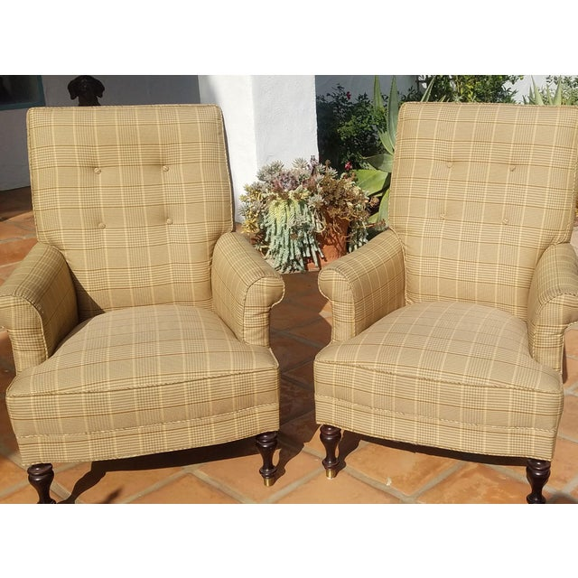 Mitchell Gold + Bob Williams Traditional Club Chairs by Mitchel Gold - a Pair For Sale - Image 4 of 11