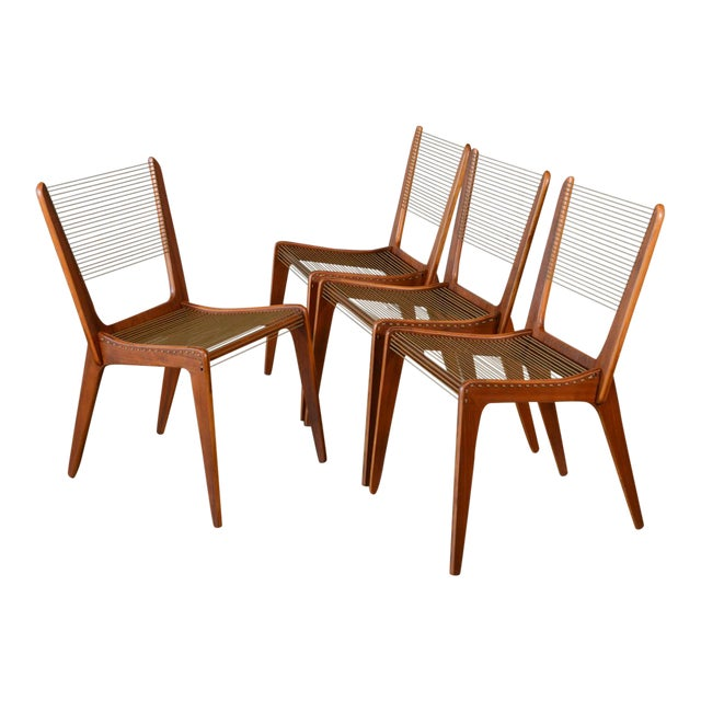 Jacques Guillou Modern String Chairs - Set of 4 - Image 1 of 8