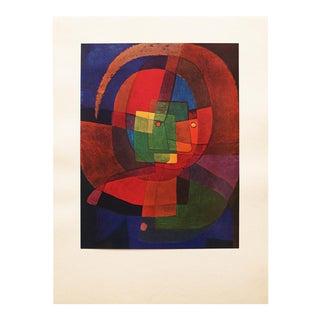 "1947 Paul Klee, Original ""Dynamism of a Head"" Parisian Lithograph For Sale"