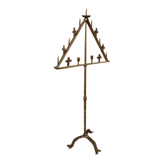 Antique Wrought Iron Torchiere From Italy, 18th Century For Sale