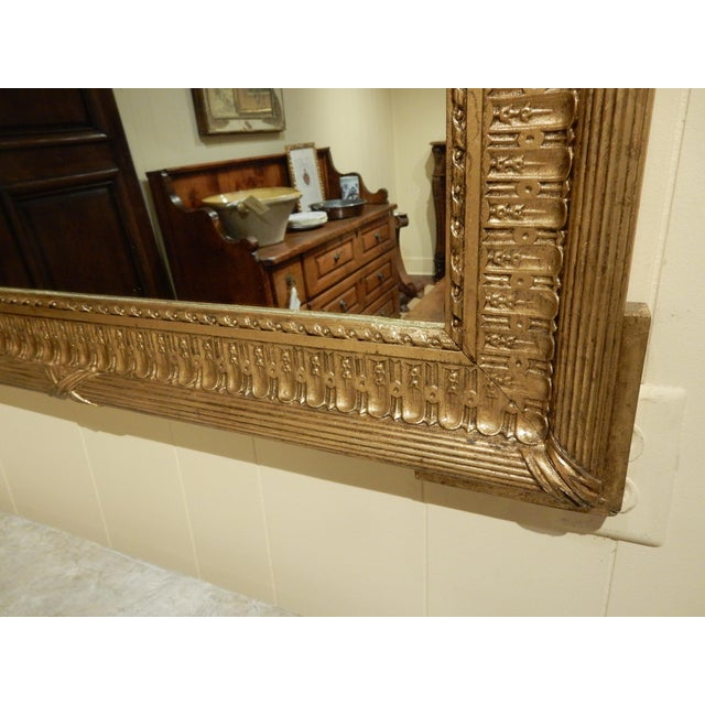 Very nice French gold gilt 19th-century mirror that can be hung from either side.