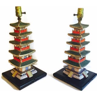 Tony Duquette-Style Pagoda Lamps - A Pair