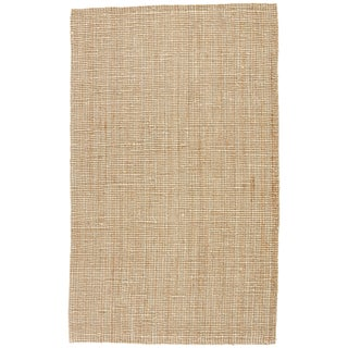 Jaipur Living Mayen Natural Solid Tan/ White Area Rug - 5′ × 8′ For Sale