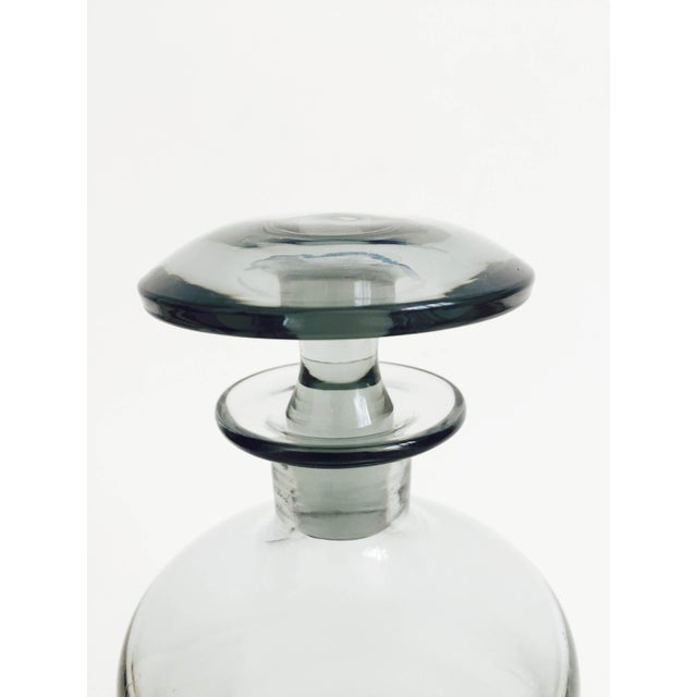 Mid Century Gray Smoke Glass Decanter - Image 3 of 6