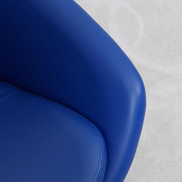 Blue 60s Swivel Pod Chair by Overman of Sweden - Image 8 of 10