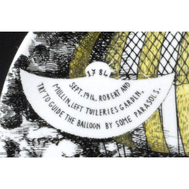 Piero Fornasetti Piero Fornasetti Hot Air Balloon Plate #6 For Sale - Image 4 of 5
