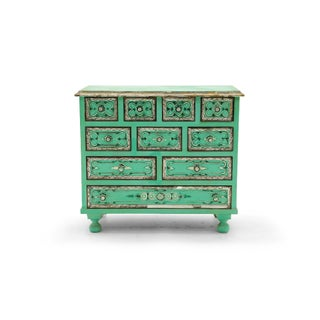 Salvador Corona Hand Painted Cabinet, Mexico / Tucson, 1940s, Signed Preview