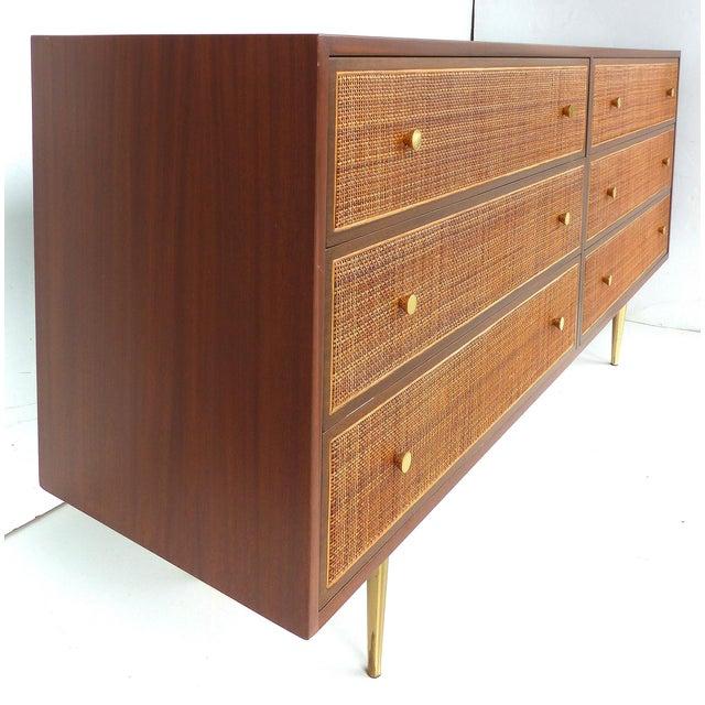Harvey Probber Woven Cane Front Dresser - Image 4 of 11
