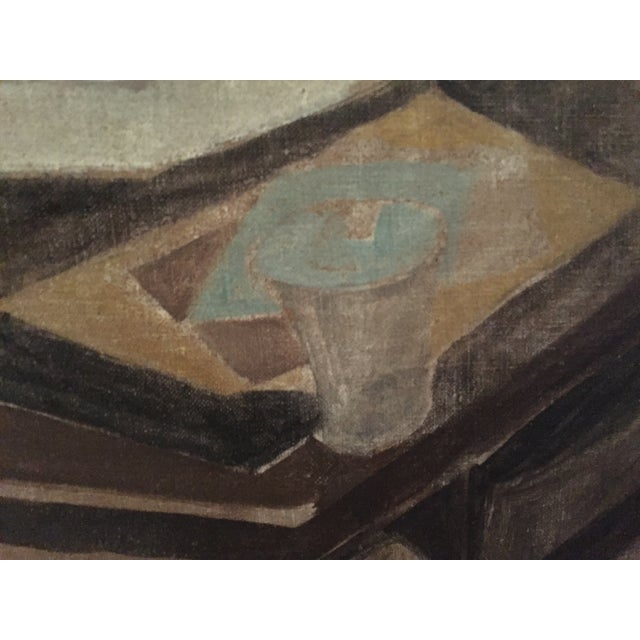 1930s Earl Horter Cubist Oil Painting For Sale - Image 10 of 10