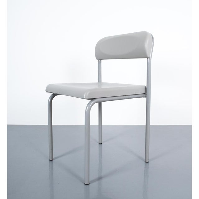 Gray One of Seven Ettore Sottsass Greek Chairs Grey Bieffeplast, Italy, 1980 For Sale - Image 8 of 13