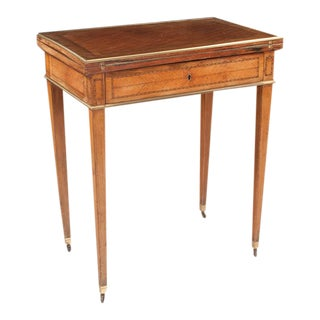 19th Century Louis XVI Style Lift Top Game Table For Sale