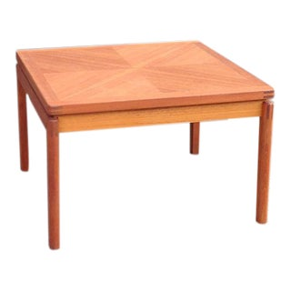Danish Modern Parquet Teak Coffee Table