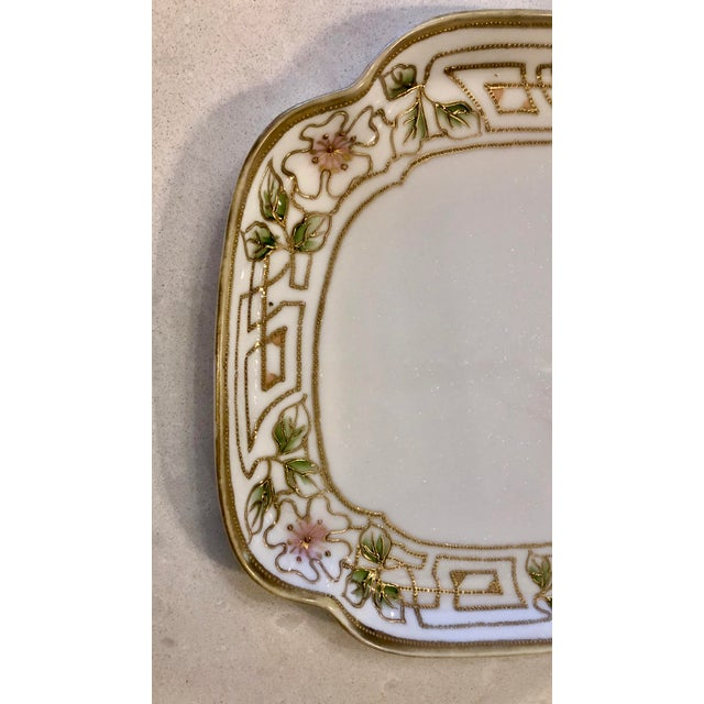 Ceramic Morimura Nippon Moriage Dressing Table Tray For Sale - Image 7 of 11