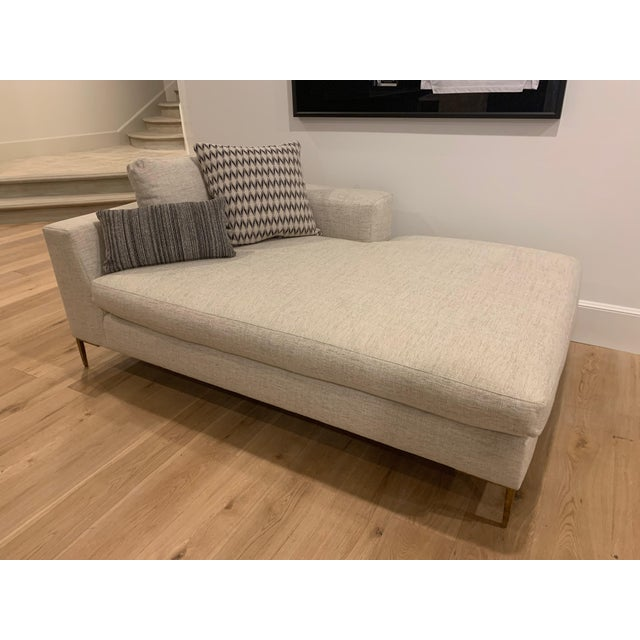 Century Furniture Roma Right Arm Facing Chaise - new condition - beautiful, neutral fabric - all custom pillows shown are...