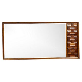 1960s Brutalist Large Wall Mirror For Sale