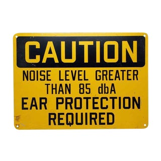 Noise Level Caution Sign For Sale