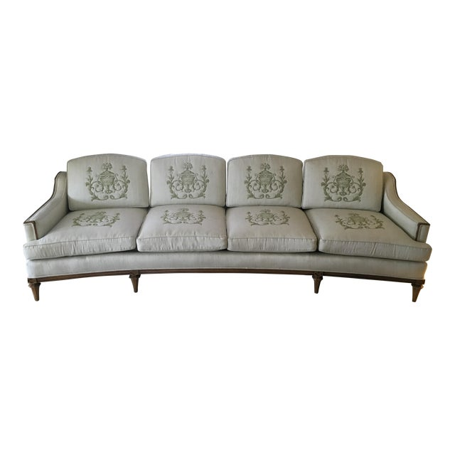 Thomasville Mid-Century Modern Curved Sofa For Sale