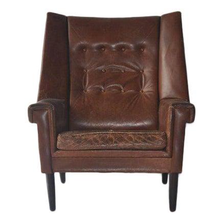 High Back Danish Lounge Chair - Image 1 of 7