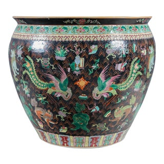 1930s Palace-Size Chinese Porcelain Center Bowl For Sale