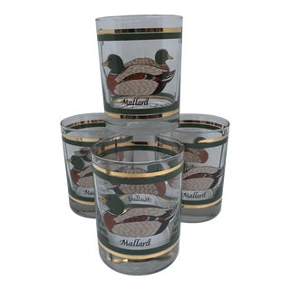 Mallard Game Bird Lowball Glasses - Set of 4 For Sale