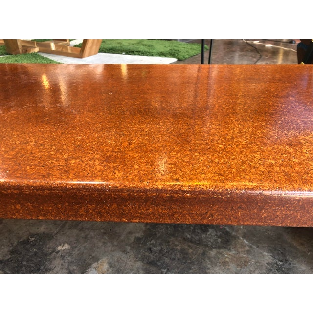 Brown Mid-Century Modern Hardwood Bench For Sale - Image 8 of 9