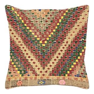 "Nalbandian - Turkish Cicim Pillow - 19"" X 19"" For Sale"