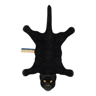 Doing Goods Fiery Black Panther Rug Large For Sale