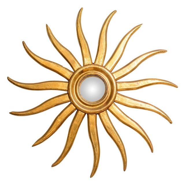 Italian Gilt Wood Sunburst Mirror With Convex Mirror For Sale - Image 13 of 13