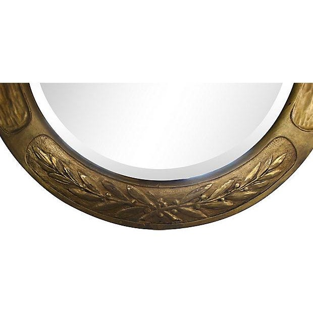 Aesthetic Movement Art & Crafts Aesthetic Movement Giltwood Round Mirror For Sale - Image 3 of 7