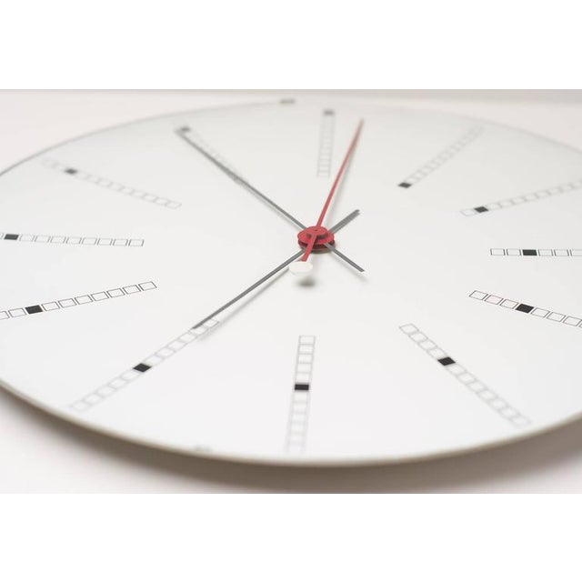 Mid-Century Modern Extra Large Bankers Wall Clock by Arne Jacobsen for Gefa, 1971 For Sale - Image 3 of 7