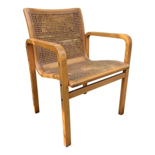 Vintage Bentwood Arm Chair W / Cane For Sale