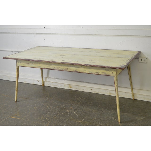 Custom Distressed Antique White Farmhouse Dining Table - Image 10 of 10