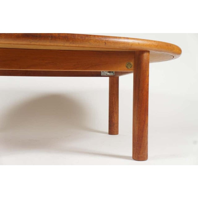 Coffee Teak Tue Poulsen Ceramic Art Tile Coffee Table by Haslev 1960s Made in Denmark For Sale - Image 8 of 12