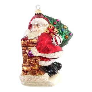 Christopher Radko Santa on the Chimney Ornament For Sale