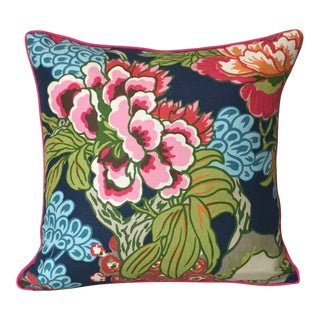 Thibaut Honshu in Navy Designer Pillow Cover For Sale