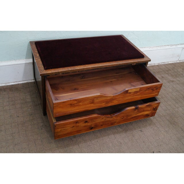 FBM & Co. Mission Oak & Cedar Lined Chest Bench For Sale - Image 4 of 10