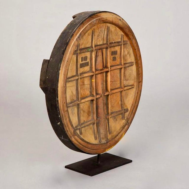 English Traditional Large Wooden Industrial Mold Cog on Custom Stand For Sale - Image 3 of 4