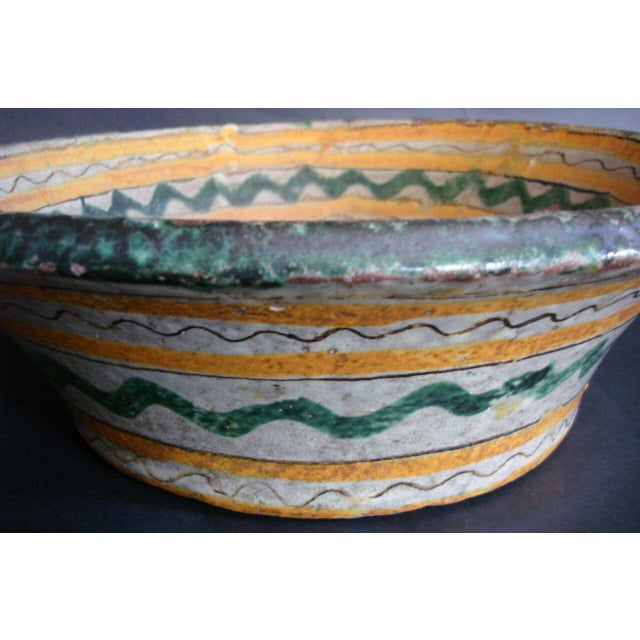 18th-19th Century Majolica Ceramic Baptismal Bowl For Sale - Image 4 of 8