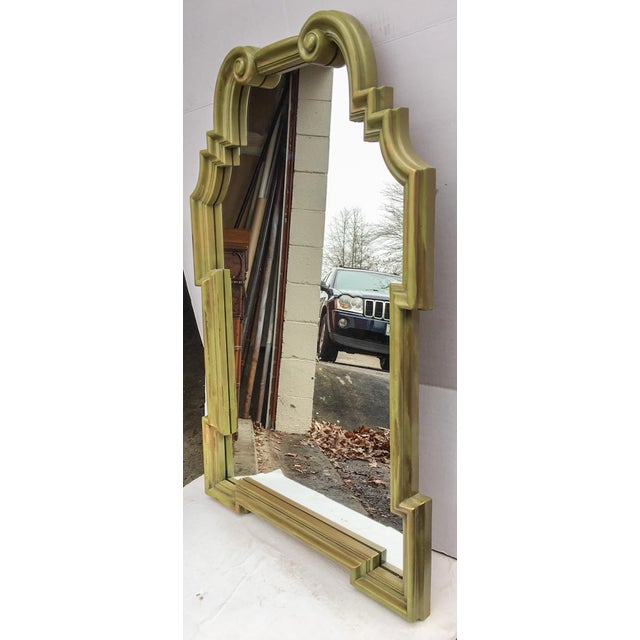 Vintage LaBarge-Style Scroll Arch Mirror - Image 3 of 7