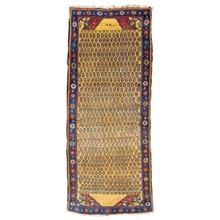 Persian Hamadan Woven Runner Rug - 3′7″ × 6′11″ For Sale