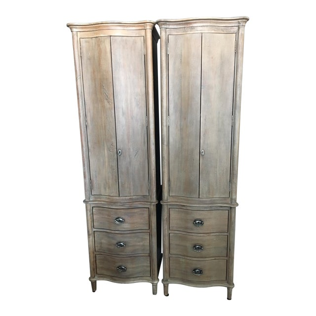 Restoration Hardware Empire Rosette: Restoration Hardware Empire Rosette Tall Bath Cabinets