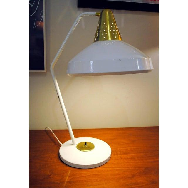 Brass Mid Century Modern Desk Lamp by Swivelier-1950's For Sale - Image 7 of 13