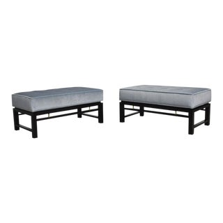 Pair of Dunbar Benches, Edward Wormley For Sale
